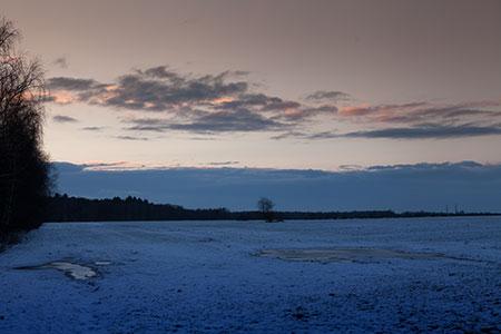 Winter Abendstimmung, Sonnenuntergang